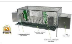 accessori per gabbie gabbia doppia per conigli cm 120x60x65 h accessori gabbie