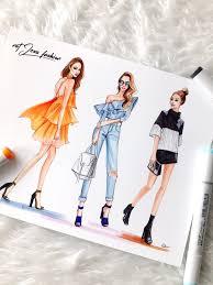 new york fashion week ss17 recap fashion sketches illustrators