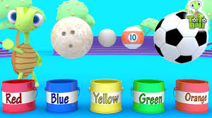 learn balls turtle painted bowling soccer golf