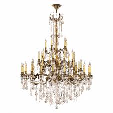 Bronze Chandelier With Crystals Windsor 45 Light Solid Cast Brass In Antique Bronze Finish With
