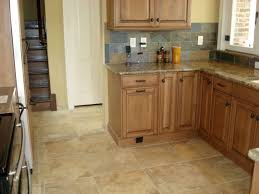 Tiles For Kitchen Floor Ideas Kitchen Floor Tile Ideas With Oak Cabinets Beige L Shaped Cabinet