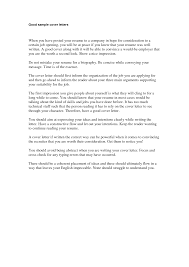 Simple Sample Cover Letter For Resume by Cover Letter Great Cover Letters Samples Amazing Cover Letters
