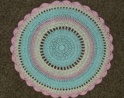 nautical anchor crochet nursery rug playroom rug area rug