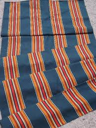 Awning Canvas Replacement Vintage Camp Awning Stripe Cotton Canvas Fabric For Lawn Chairs Etc