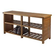 winsome wood keystone shoe bench amazon ca home u0026 kitchen