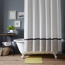 peaceful ideas grey striped shower curtain impressive decoration