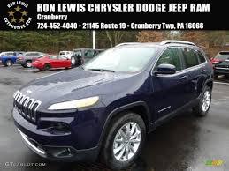 light blue jeep cherokee 2016 true blue pearl jeep cherokee limited 4x4 109582626