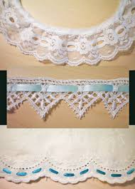 ribbon lace threading eyelet with ribbon yesterday s thimble