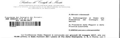convocazione consiglio dei ministri commercio il giorno della verit罌 giannone rg tutte