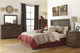 brown wall combine stone fireplace rustic bedroom decor square