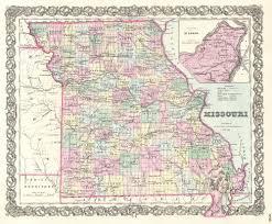 Missouri On Map File 1855 Colton Map Of Missouri Geographicus Missouri Colton