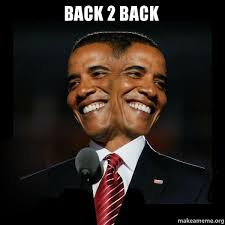 Make A Meme With 2 Pictures - back 2 back two faced obama make a meme