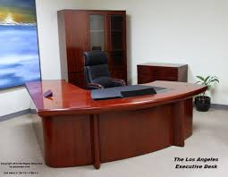 the los angeles modern executive desk front view modern