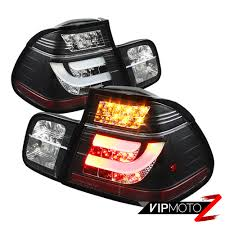 Led Strip Tail Lights by 99 01 Bmw E46 3 Series 4dr Tail Light Black Led Strip Signal Brake