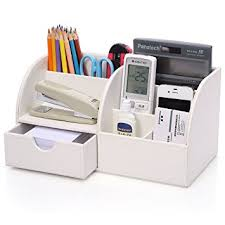 Office Desk Storage Kingfom 7 Storage Compartments Multifunctional Pu