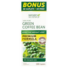 nature u0027s science 100 pure green coffee bean caplets 100 count