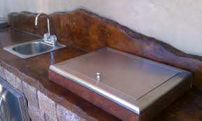 Concrete Staining Pictures by Concrete Stained Countertops Stained Concrete Countertops Ideas