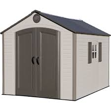 lifetime 8 ft x 10 ft outdoor storage shed storage sheds