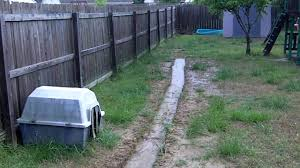 backyard drainage clogged home outdoor decoration