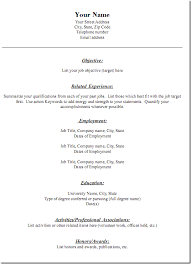 Fill In Resume Template Free Free Printable Resume Template Resume Template And Professional