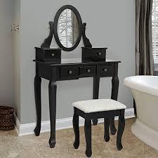 black makeup desk with drawers bathroom vanity table jewelry makeup desk bench drawer hair dressing