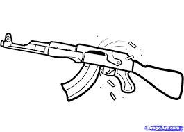 how to draw an ak 47 step by step guns weapons free online