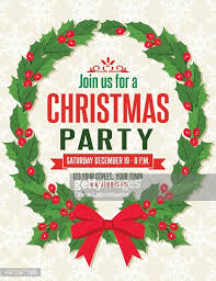 christmas party invitations christmas party invitation template vector getty images