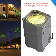 12x3w tri outdoor wireless battery led uplighting for sale with
