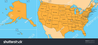 Maine State Usa Map by Map United States Including Alaska Hawaii Stock Illustration