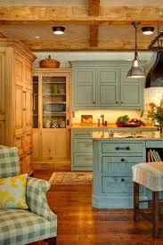 Furniture Style Kitchen Island Cabin Kitchen Island Small Rustic Designs Kitchens Tiny Creek