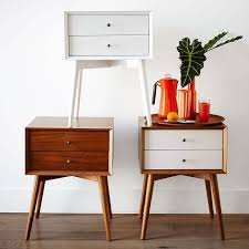 Bed Side Tables Mid Century Nightstand Acorn West Elm