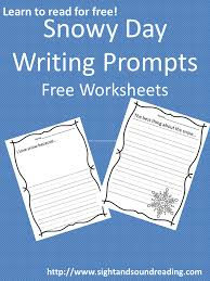 free worksheet snowy day writing prompt mrs karles sight and