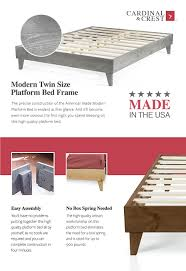 Modern Platform Bed Frame Amazon Com Modern California King Size Platform Bed Frame Solid