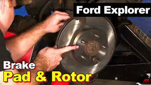 1995 ford explorer brake pads and rotors youtube