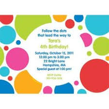 polka dot invitations funky polka dots invitations for girl s birthdays baby
