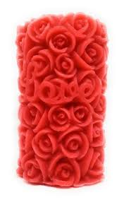 2 pcs rose pillar candle for home decor or diwali christmas gift