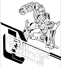 Transformers Coloring Pages Transformer Color Page