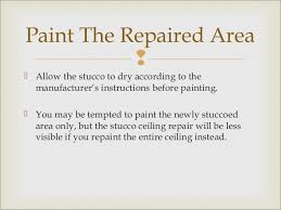 Stucco Ceiling Repair by How To Repair A Stucco Ceiling