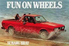 subaru brat baja fun on wheels the subaru brat is too fun to exist today