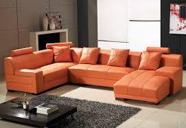 Orange Leather Sectional Sofa Fabulous Orange Leather Sofa Set Stunning Leather Sectional Sofa