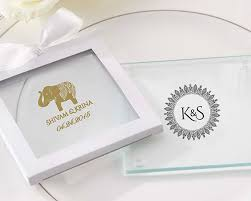 coaster favors personalized glass coaster indian favors set of 12