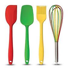 ustensile de cuisine en silicone set de 4 ustensiles de cuisine en silicone spatule cuillère