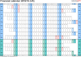 financial calendars 2015 16 uk in microsoft excel format