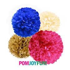 royal blue tissue paper tissue pom poms in hot pink royal blue gold hot p9nk and