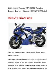 2002 2003 yamaha yzf1000 r1 service repair factory manual instant dow u2026