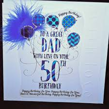 handmade 50th birthday card large luxury birthday card