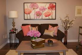 how decorate a living room with brown sofa living room designs pretty flower room decor pink couch living room