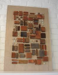 artwork on wood thom haus handmade on wood using pieces of wood and tiles