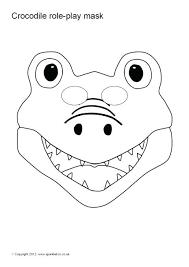 printable lizard mask template printable printable crocodile mask reptile green animal by template