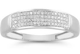 mens wedding rings white gold men s 1 4 carat diamond wedding band in 14k white gold